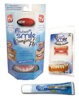 Instant Smile Comfort Fit Flex Teeth Uppers and Lowers w/ Denture Cream