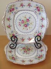 Royal Albert Petit Point 2 Double Handled Square Cake Plate Needlepoint England