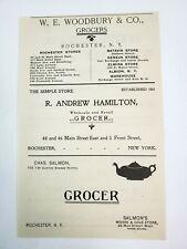 1902 Rochester New York Advertisement Grocer Woodbury Salmon Brewster Buell