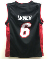 Lebron James Youth Jersey Miami Heat #6 Adidas NBA Basketball Black Size S (8)