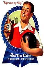 Pabst Blue Ribbon Beer It's Splendid Advertisement Poster Print