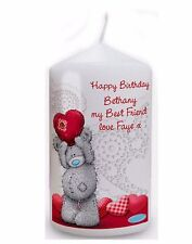 Personalised Me to You Teddy Heart Candle Best Friend Gift For Anyone #2