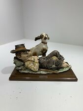 Capodimonte - Vintage Figurine - Sleeping Boy With Dog Giuseppe Armani Signed
