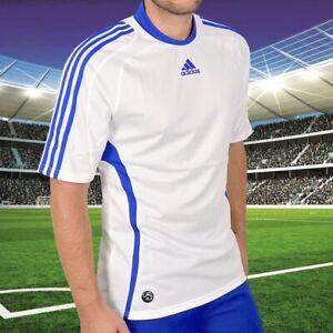 Adidas Climacool Men's Sports T-Shirt Football Jersey Running Shirt White/Blue