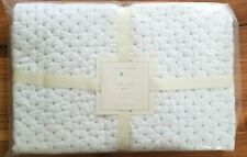 Pottery Barn Baby Pick Stitch Quilt Toddler White/Blue New With Tags #M18