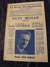 Partition Pays Mosan Emile Van Herck Music Sheet