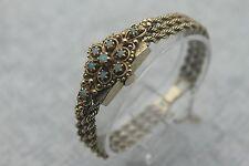 Antique SOLAR Watch Co. 17j Incabloc 14K Solid Gold Fire Opal Deco Ladies Watch