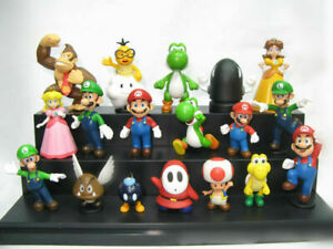 18pcs Super Mario Bros Figures Kids Toys Doll  Spielzeug Puppen Model Collection