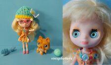 """Littlest Pet Shop Blythe Doll Pet Lot """"Field of Daisies"""" w 249 Scottie Blue Eyes"""