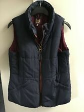Joules HIGHAM Navy Blue Quilted / Padded Ladies Zipped Gilet - UK 14