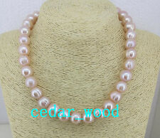 "HUGE NATURAL SOUTH SEA 12-13MM PINK PEARL NECKLACE 18""14K GOLD CLASP"