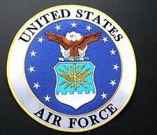 USAF AIR FORCE LOGO LARGE ROUND EMBROIDERED JACKET PATCH 12 INCHES