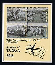 Tonga - 2016 75th Anniversary of World War II Postage Souvenir Sheet