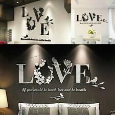 Diy Removable 3D Leaf Love Wall Sticker Art Vinyl Decals BedRoom Mural Decors