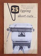 Vintage 25 Typing Short cuts... booklet Remington Rand New York NY - book