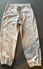 NEW HIGH FIVE WOMEN'S XS 22-24 BASEBALL SOFTBALL PANTS DOUBLE CLASP GRAY a004