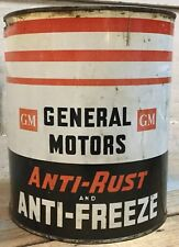 Vintage General Motors Anti-Rust And Anti- Feeeze Can ~ 1 Gallon