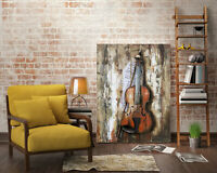 Handcrafted 3D Metal Painting Violin - Abstract Modern Wall Art, Metal Art Decor