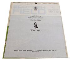 Vtg DEWARS White Label Scotch Whisky Advertising Calendar 1975 Scottish Field