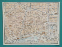 "1934 MAP 6 x 8"" (15 x 20 cm) - BARCELONA City Plan Spain & PALMA in Mallorca"