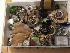 LoT VINTAGE & NOW JEWELRY SCRAP BITS & PIECES for CRAFTS Or OTHER Or Repair