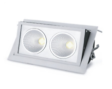 LED Shopfitter 35W Kit+SAA Driver+AU Plug5000K/Cool White/White housing 45Degree