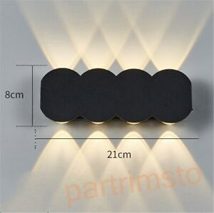 LED Modern Wall Light Bedside Corridor Hallway Lamp Aluminum Fixtures Waterproof
