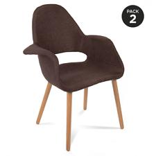 2 Sillas de diseño retro estilo silla RCD-7009