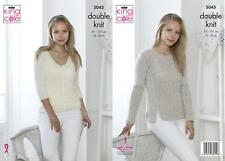 King Cole 5045 Knitting Pattern Womens Sweater and Cardigan in Calypso DK
