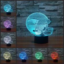 3D New England Patriots helmet night 7 color led switch gift nightlight usb lamp