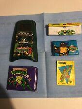 Teenage Mutant Ninja Turtles Stuff : Pencil Box, Tissues, Billfold And Game