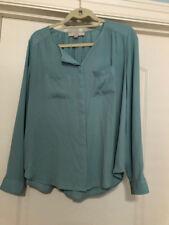 Loft Women's Long-sleeved blouse -Aqua color- Size Small