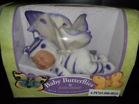 NIB Anne Geddes Baby Butterfly~ Bean Filled Collection~ White & Purple/Violet