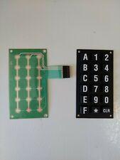 Dixie narco 5591 Keypad And Keypad Membrane - New