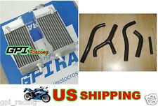 R&L Aluminum radiator & hose HONDA CR125 CR125R CR 125R 1983 83