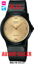 CASIO WATCH WATER RESISTANT GENTS MQ76 MQ-76-9ALDF 12-MONTH WARRANTY