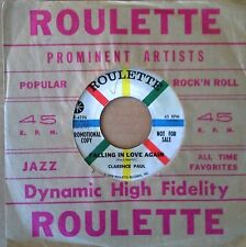 CLARENCE PAUL - FALLING IN LOVE AGAIN - ROULETTE LABEL -  PROMO 45