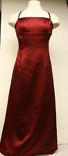 Womens Nicole Miller Collection Long Red Cocktail Special Occassion Dress Size 8