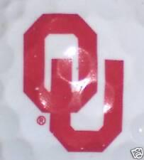 NCAA (1) OKLAHOMA SOONERS         LOGO GOLF  BALL BALLS