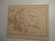 1847 Hand Colored Engraved Map of Oceanica (New Australia/Australasia)