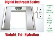Digital Electronic LCD BODY FAT & HYDRATION BMI Analyser Bathroom Scales Scale