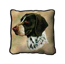 """17"""" x 17"""" Pillow - German Shorthaired Pointer by Robert May 1946"""