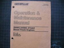 CAT Caterpillar 3306C 3406C Engine Operation Operators Maintenance Manual 1994