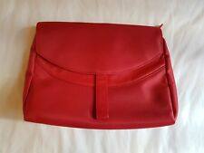 Clarins Red Toiletries Cosmetics Makeup Travel Bag #SundayMarket