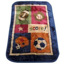 My Little MVP Baby Boy Sports Soccer Tennis Baseball Plush Mink Blanket By NoJo