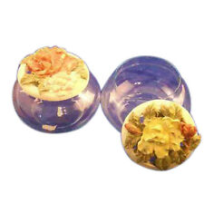 2 glass & poly resin trinket candy favor box with cover