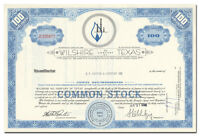 Wilshire Oil Company of Texas Stock Certificate