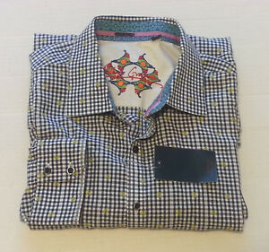 "Robert Graham Men Dress Casual Shirt Size 2XL ( 18 - 36/37 ) 52"" chest India"