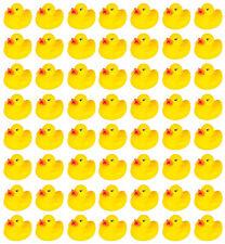 100ct Bulk Toy Mini Rubber Yellow Duck Float Squeak Bath Classic Squeaky Toys