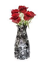 New Modgy Plastic Expandable Modern Art Decor Flower Vase Werd Black & White